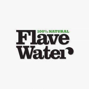 FlaveWater bottled water identity logo