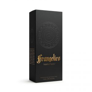 liqueur packaging design Frangelico box