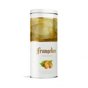 liqueur packaging design Frangelico tin