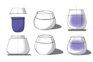 skincare identity design Sisidyll sketches