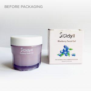 skincare packaging design Sisidyll before