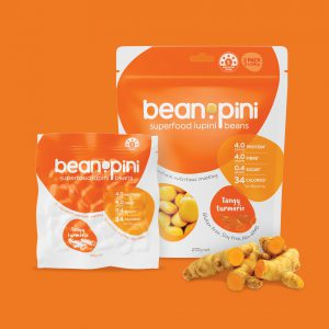 superfood packaging design Beanopini tumeric