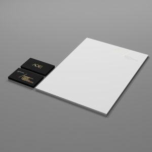 AOE wedding identity design stationery