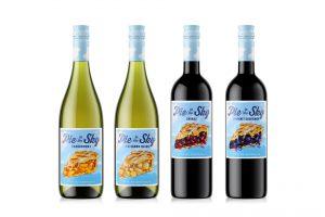 wine packaging design PieInTheSky bottles