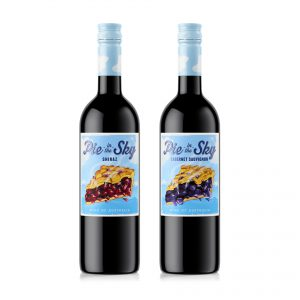 wine packaging design PieInTheSky shiraz CabSauv