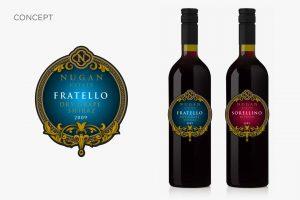 NuganEstateAlfredo wine packaging design CONCEPT