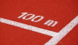 olympic track 100m
